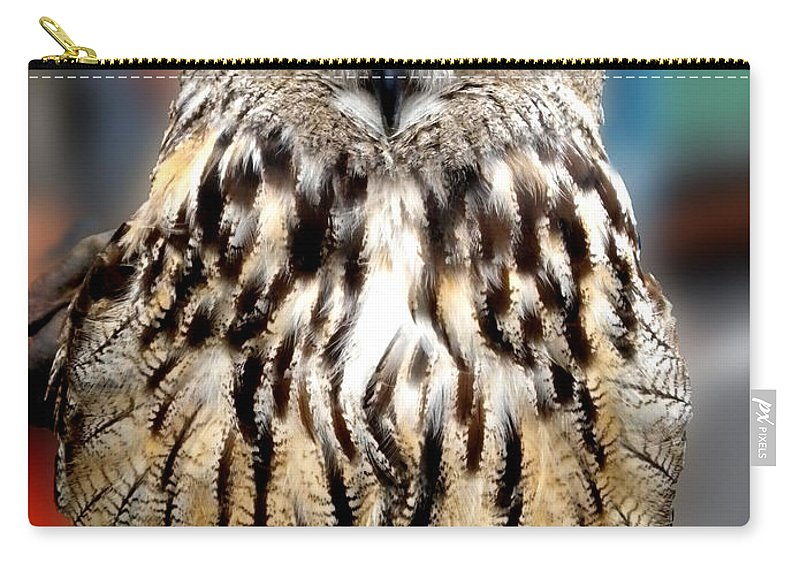 Colette Carry-all Pouch featuring the photograph Wise Forest Mountain Owl Spain by Colette V Hera Guggenheim