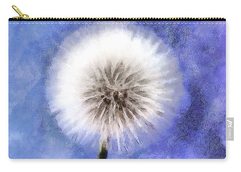 Dandelion Carry-all Pouch featuring the photograph Wish A Little Wish by Krissy Katsimbras