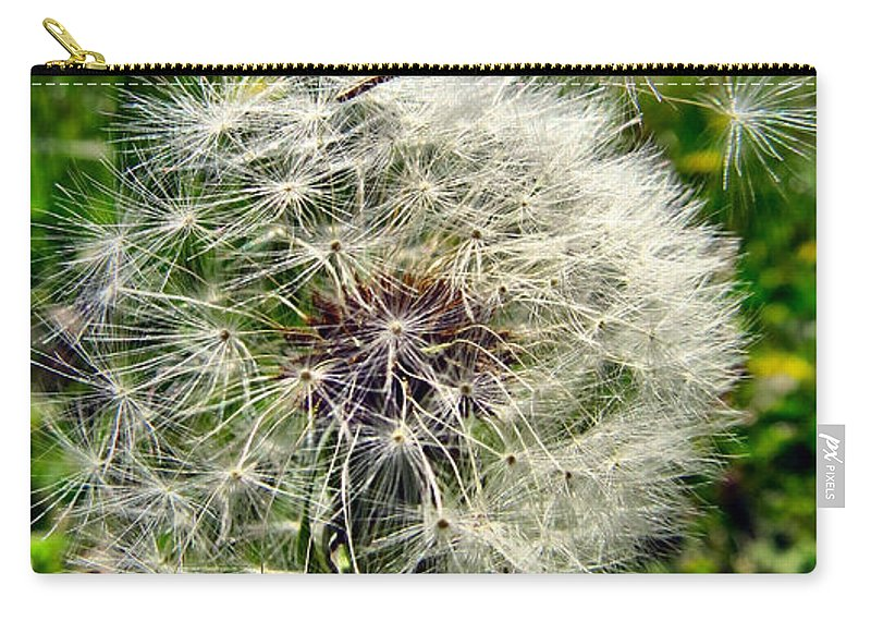 Dandelion Carry-all Pouch featuring the photograph Wish I May by Art Dingo
