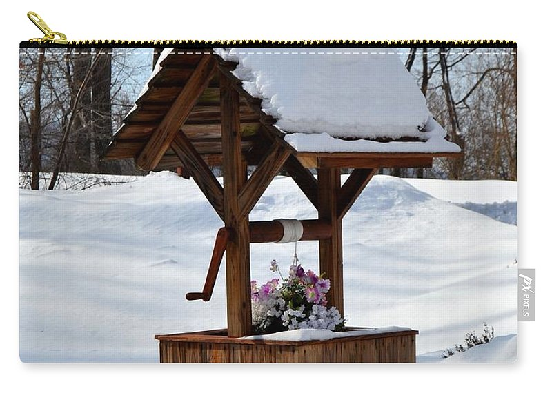 Wishing Well Carry-all Pouch featuring the photograph Wishing For Spring by Kathy McCabe