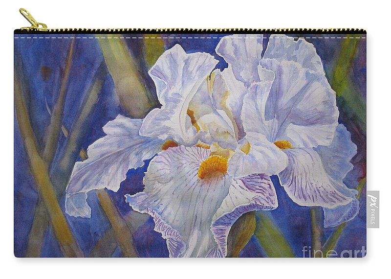 Light Carry-all Pouch featuring the painting Wispy by Mohamed Hirji