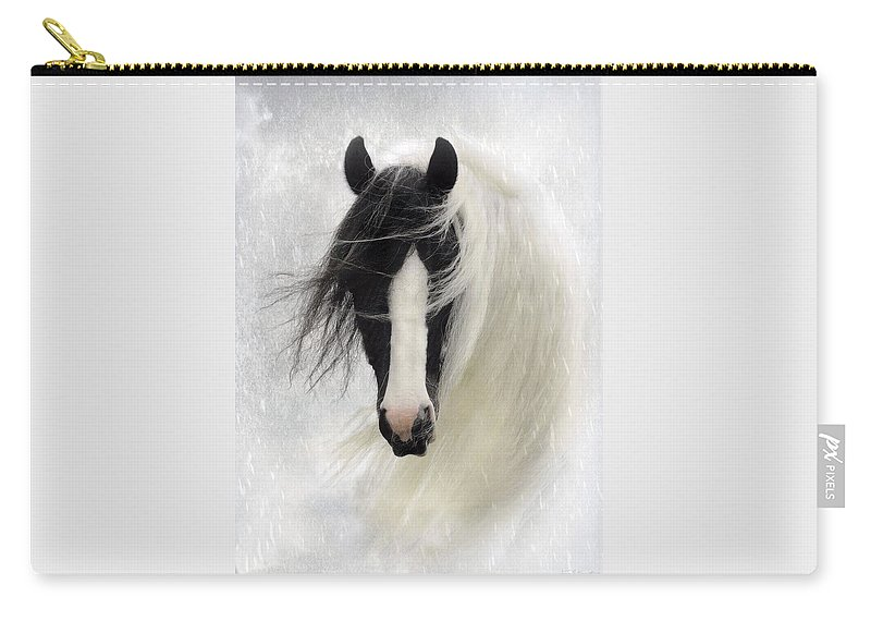 Horses Carry-all Pouch featuring the photograph Wisteria by Fran J Scott