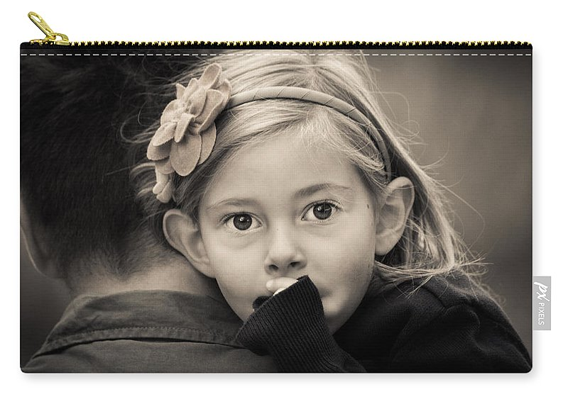 Bill Pevlor Carry-all Pouch featuring the photograph With Dad - B And W by Bill Pevlor