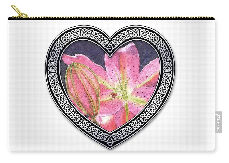Valentines Carry-all Pouch featuring the digital art With Love by Lynn Quinn