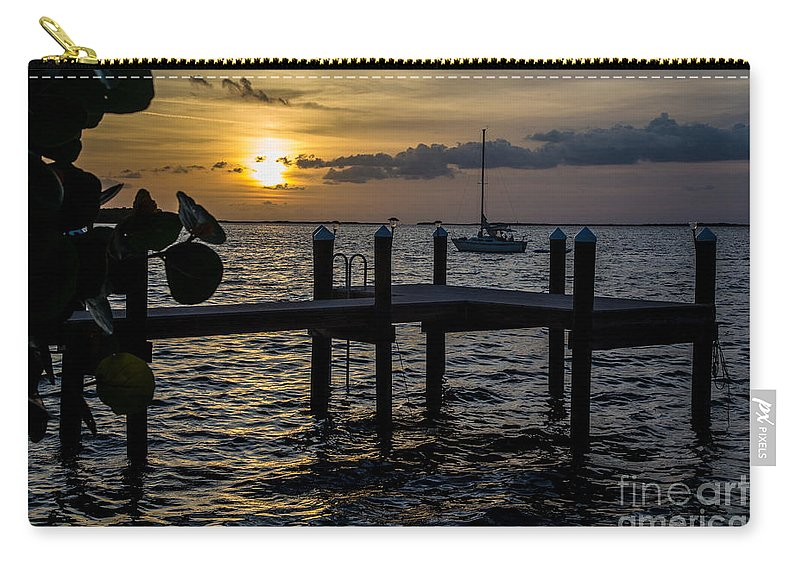 Sunset Carry-all Pouch featuring the photograph Without A Worry by Rene Triay Photography