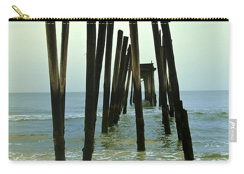 Without Carry-all Pouch featuring the photograph Without Pier by Bill Cannon