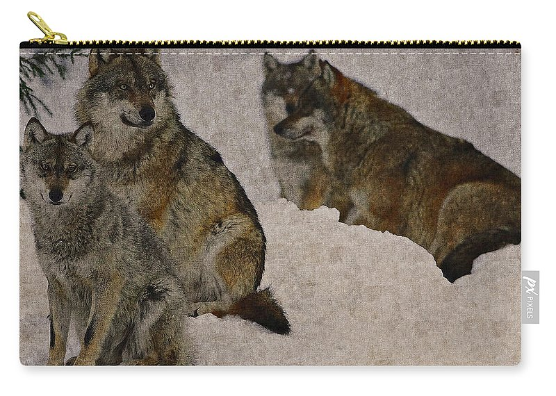Wolf Carry-all Pouch featuring the photograph Wolf 2 by Ingrid Smith-Johnsen
