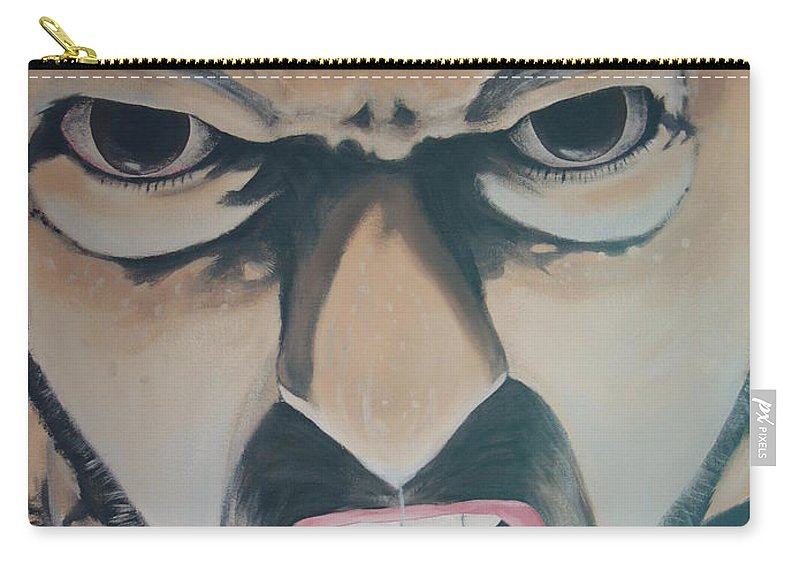 Brown Eyes Carry-all Pouch featuring the painting Wolverine by Dean Stephens