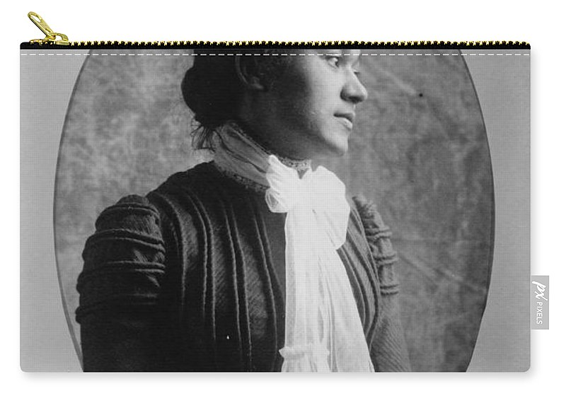 1890 Carry-all Pouch featuring the photograph Woman, C1900 by Granger