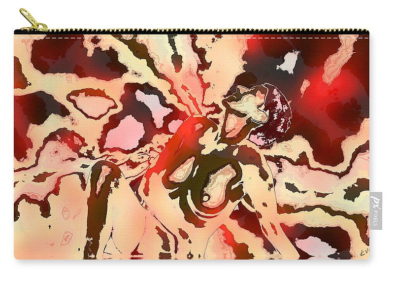 Nude Carry-all Pouch featuring the photograph Woman In Red by Kurt Van Wagner