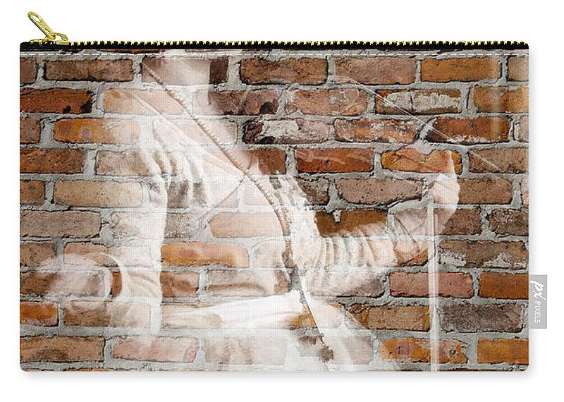Tribal Baroque Carry-all Pouch featuring the photograph Woman In The Bricks by Alice Gipson