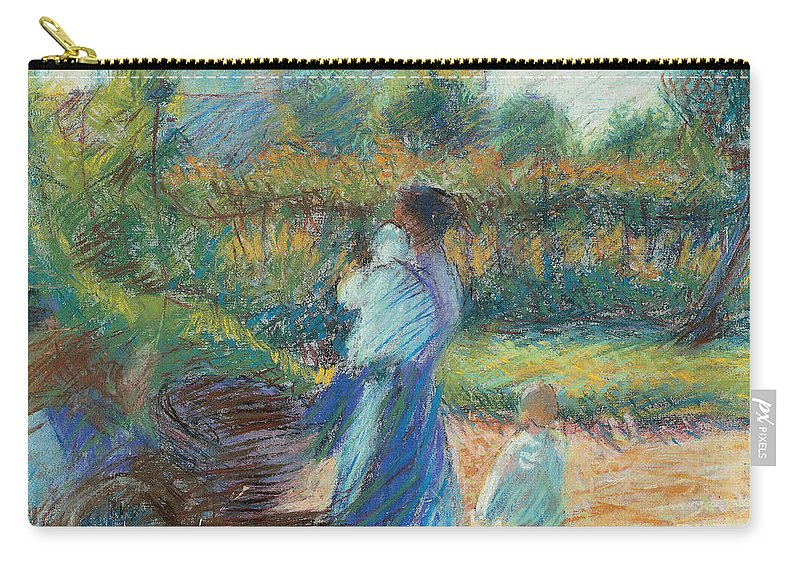 Boccioni Carry-all Pouch featuring the painting Woman In The Garden by Umberto Boccioni