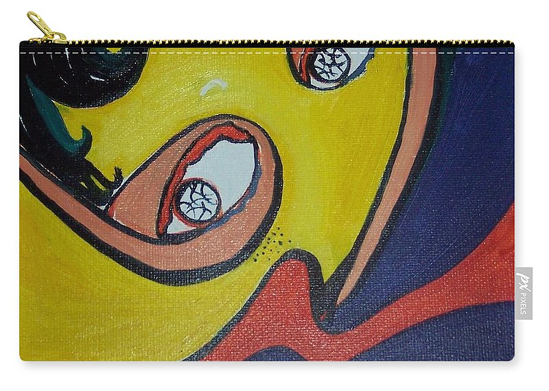 Abstract Figurative Paintings Carry-all Pouch featuring the painting Woman20 by Seon-Jeong Kim