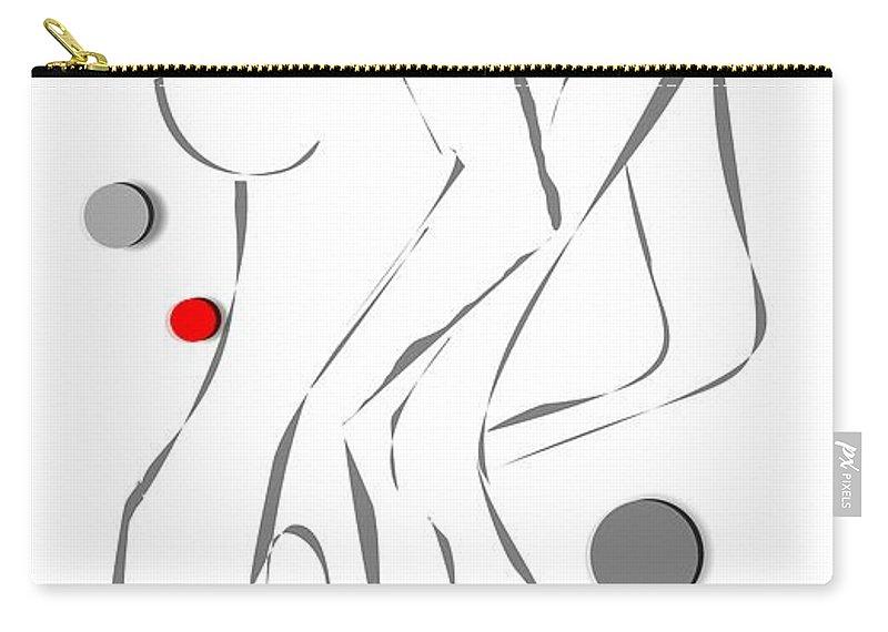 Woman Carry-all Pouch featuring the digital art Women 102-02-13 Marucii by Marek Lutek