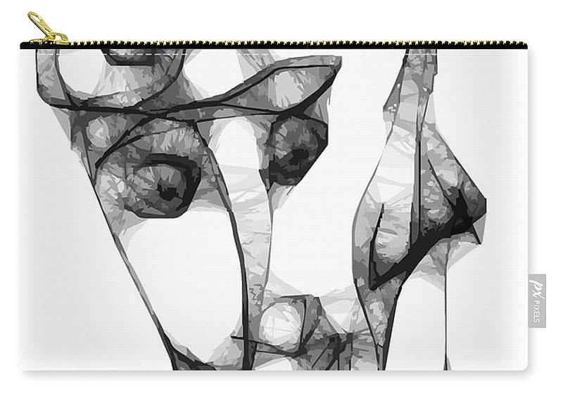 Women Carry-all Pouch featuring the digital art Women 653 - Marucii by Marek Lutek
