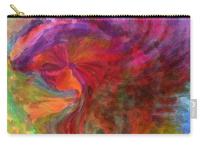 Woman Art Carry-all Pouch featuring the digital art Women by Linda Sannuti