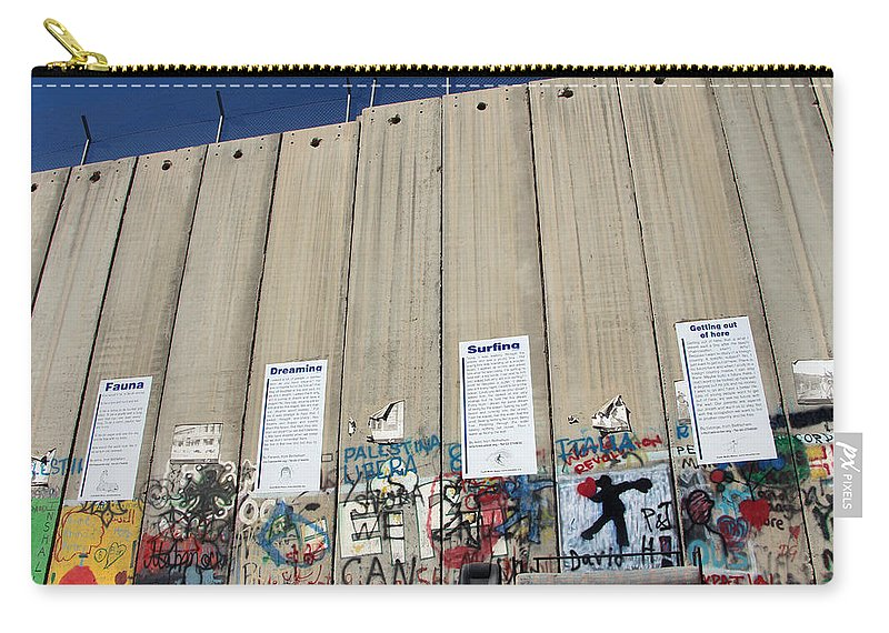 Apartheid Wall Carry-all Pouch featuring the photograph Women Stories Museum by Munir Alawi