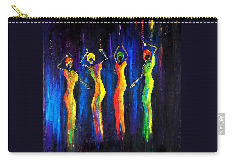 Women Paintings Carry-all Pouch featuring the painting Womens Day Celebration In South Africa by Marietjie Henning