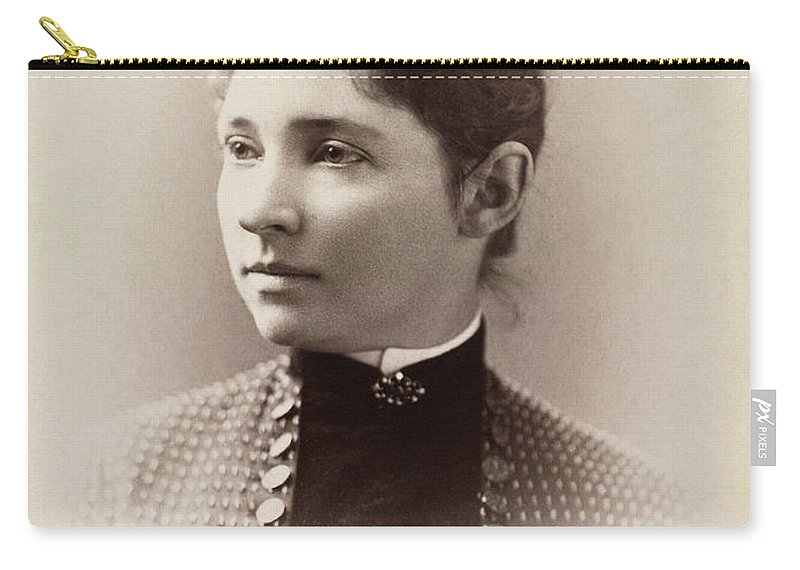 1880 Carry-all Pouch featuring the photograph Women's Fashion, C1880 by Granger