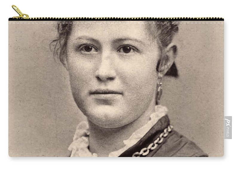 1890 Carry-all Pouch featuring the photograph Women's Hairstyle, C1890 by Granger