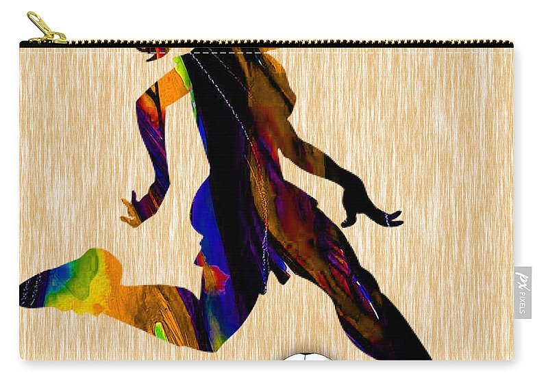 Soccer Carry-all Pouch featuring the mixed media Women's Soccer by Marvin Blaine