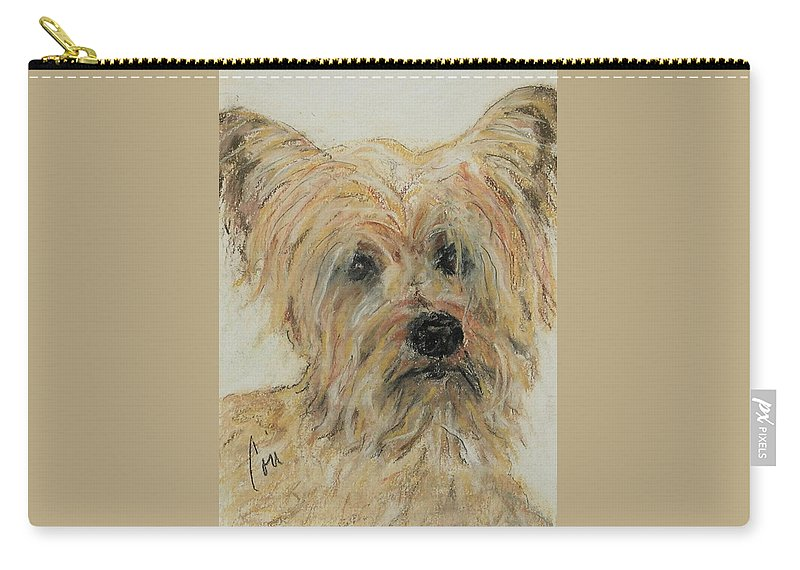 Terrier Carry-all Pouch featuring the drawing Wonder-ful by Cori Solomon