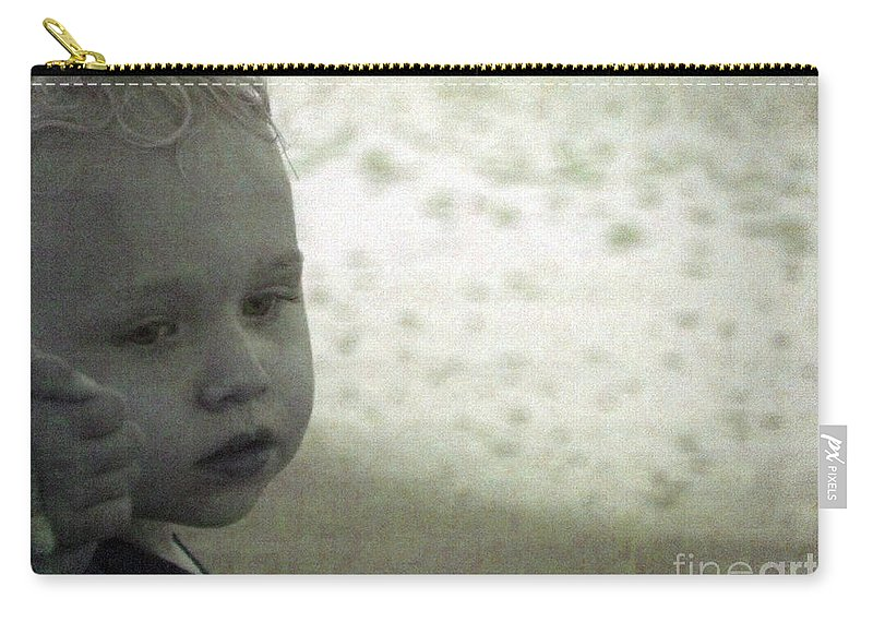 Child Carry-all Pouch featuring the photograph Wonder In Black And White by Jennifer Lavigne