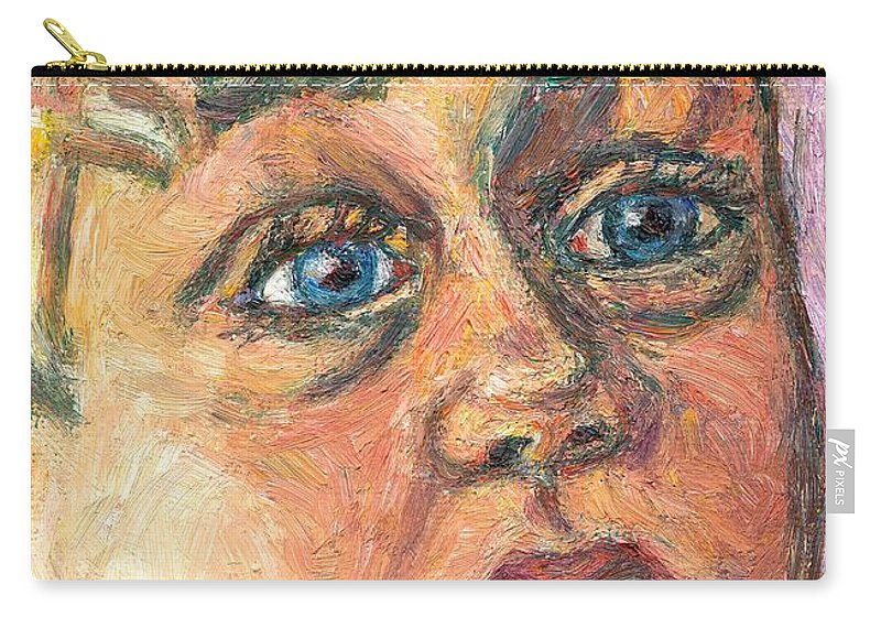 Portrait Carry-all Pouch featuring the painting Wonder by Kendall Kessler