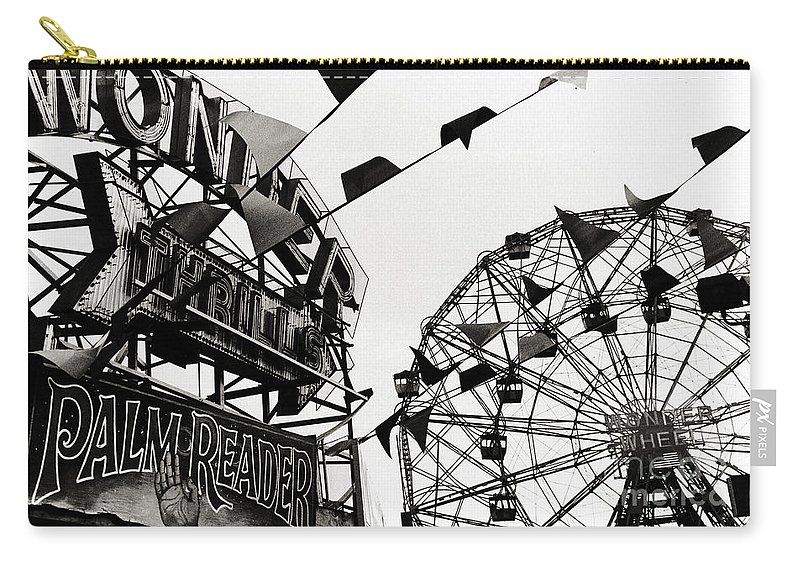 Wonder Wheel Carry-all Pouch featuring the photograph Wonder Wheel by Madeline Ellis