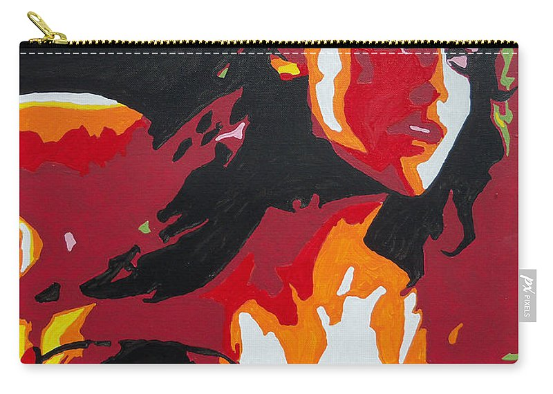 Wonder Woman Carry-all Pouch featuring the painting Wonder Woman - Sister Inspired by Kelly Hartman
