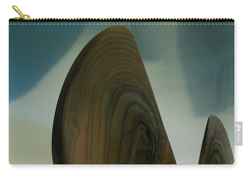 Colette Carry-all Pouch featuring the photograph Wood Zen Harmony by Colette V Hera Guggenheim