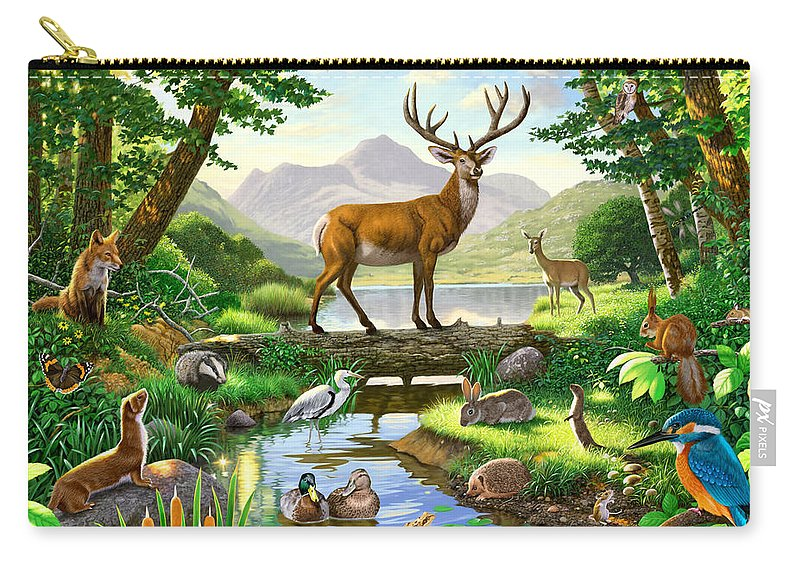 Animal Carry-all Pouch featuring the photograph Woodland Harmony by MGL Meiklejohn Graphics Licensing