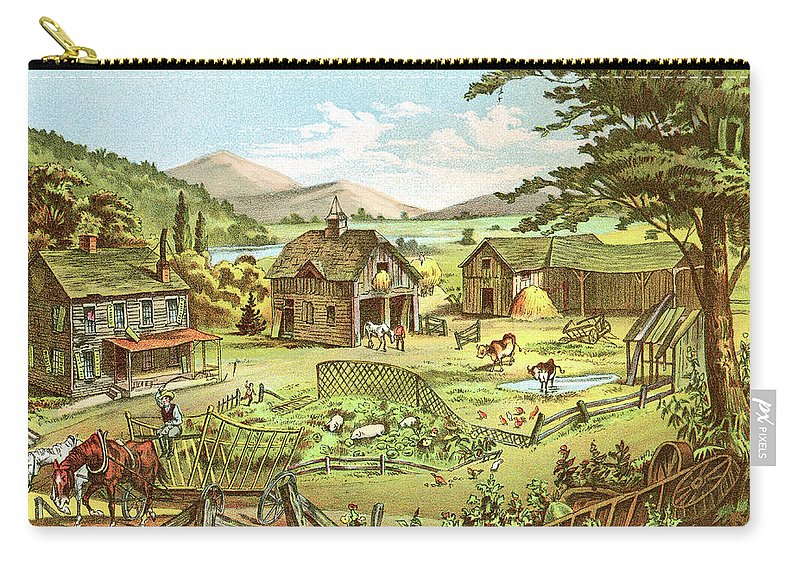 Horse Carry-all Pouch featuring the digital art Woodland Home Ten Years Later In Hands by Nnehring