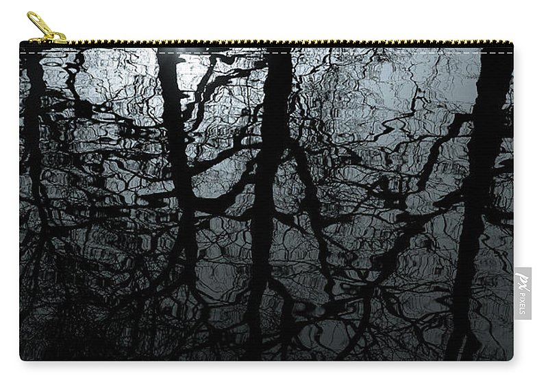 Water Reflection Carry-all Pouch featuring the photograph Woodland Waters by Dave Bowman