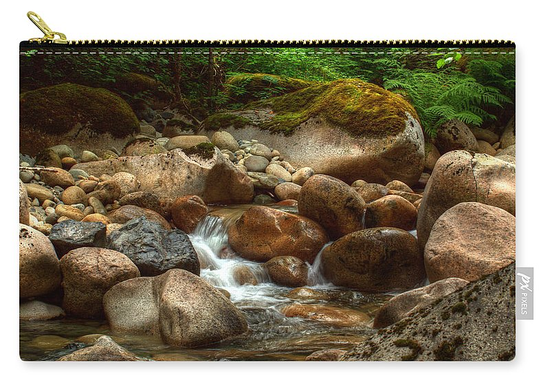Water Carry-all Pouch featuring the photograph Woodland Waters by Randy Hall