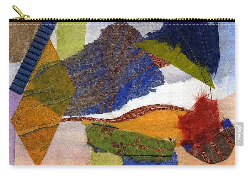 Abstract Carry-all Pouch featuring the painting Woodpecker by Eldora Schober Larson