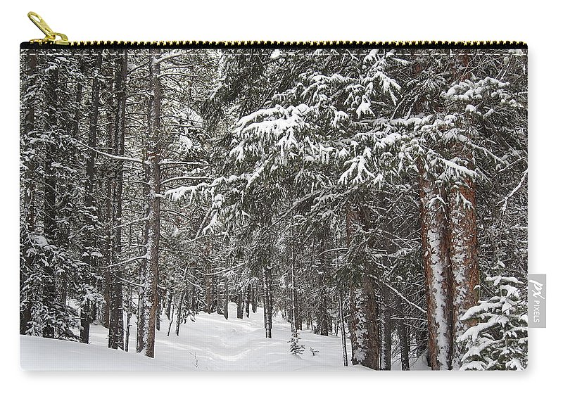 Forest Carry-all Pouch featuring the photograph Woods In Winter by Eric Glaser