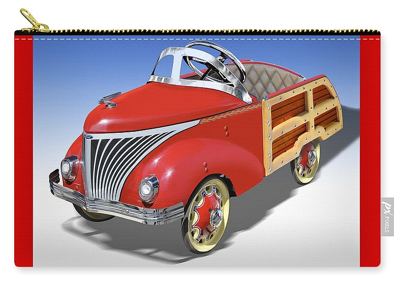 Peddle Car Carry-all Pouch featuring the photograph Woody Peddle Car by Mike McGlothlen