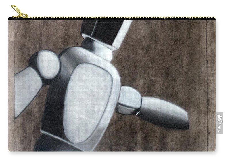 Woody Carry-all Pouch featuring the drawing Woody by Teri Schuster