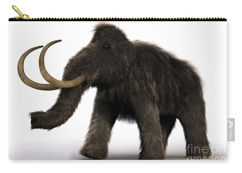 Wooly Mammoth Carry-all Pouch featuring the photograph Wooly Mammoth by Science Picture Co