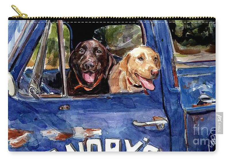 Work Truck Carry-all Pouch featuring the painting Work And Play by Molly Poole