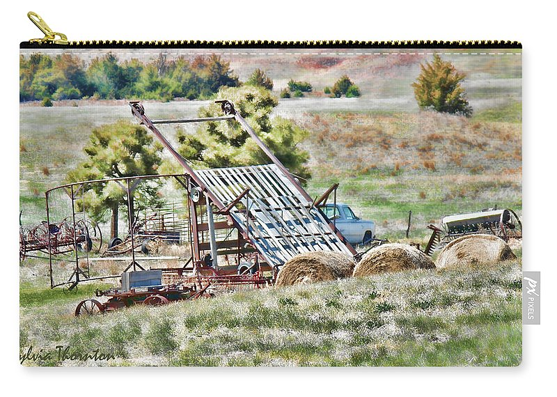 Farm Carry-all Pouch featuring the photograph Work Is Done by Sylvia Thornton