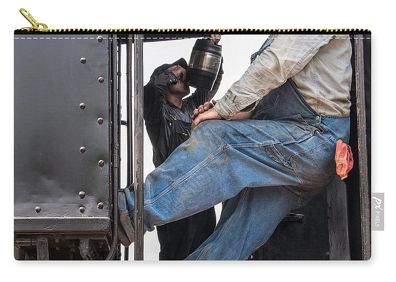 Railroad Carry-all Pouch featuring the photograph Working On The Railroad by David Kay
