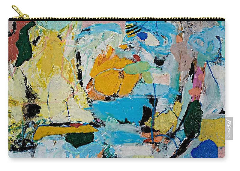 Landscape Carry-all Pouch featuring the painting World Of Action by Allan P Friedlander