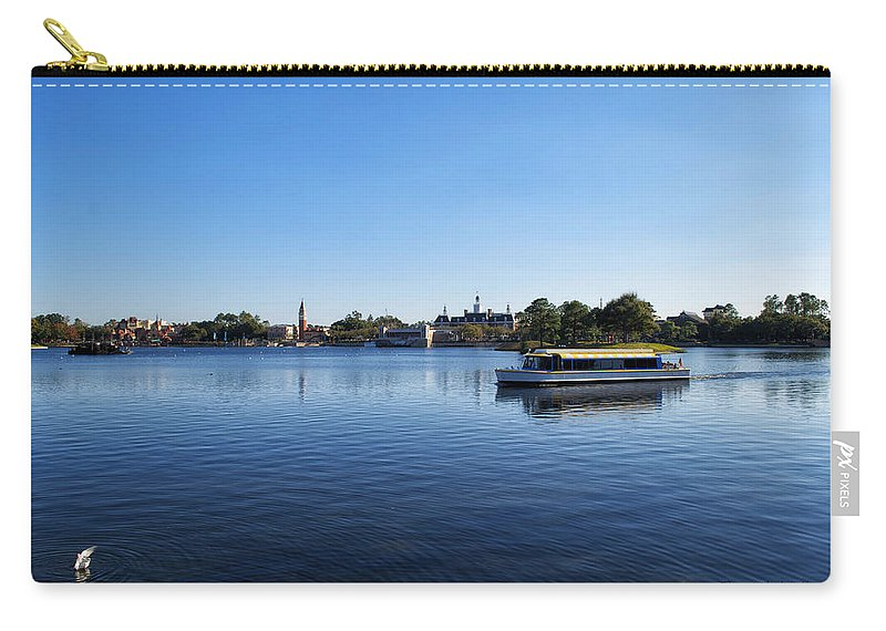 Epcot Carry-all Pouch featuring the photograph World Showcase Lagoon Walt Disney World by Thomas Woolworth