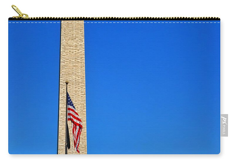 National Carry-all Pouch featuring the photograph World War II Memorial And Washington Monument by Olivier Le Queinec