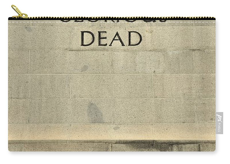 Singapore Carry-all Pouch featuring the photograph World War Two Our Glorious Dead Cenotaph by Imran Ahmed