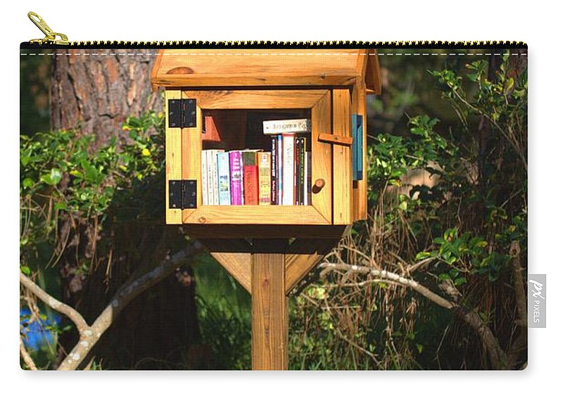5691 Carry-all Pouch featuring the photograph World's Smallest Library by Gordon Elwell