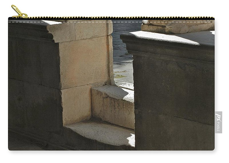 Church Carry-all Pouch featuring the photograph Worn Step by Joseph Yarbrough