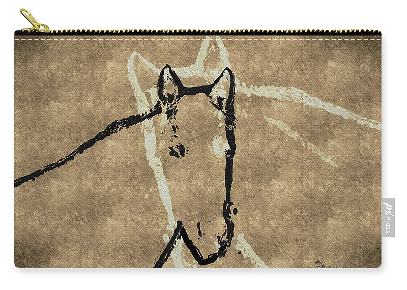 Horse Carry-all Pouch featuring the digital art Wrapped Around Your Neck by Ericamaxine Price